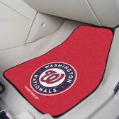 "Washington Nationals 2-piece Carpeted Car Mats 17""x27"""