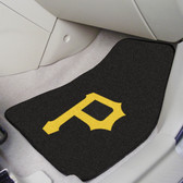 "Pittsburgh Pirates 2-piece Carpeted Car Mats 17""x27"""