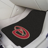 "Arizona Diamondbacks 2-piece Carpeted Car Mats 17""x27"""