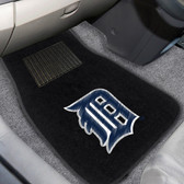 "Detroit Tigers 2-piece Embroidered Car Mats 18""x27"""