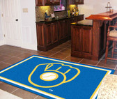 "Milwaukee Brewers ""Ball in Glove"" Rug 5'x8'"