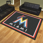 Miami Marlins 8'x10' Rug