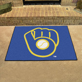 "Milwaukee Brewers ""Ball in Glove"" All-Star Mat 33.75""x42.5"""