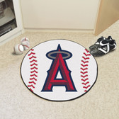 "Los Angeles Angels Baseball Mat 27"" diameter"