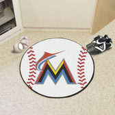 "Miami Marlins Baseball Mat 27"" diameter"