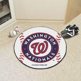 "Washington Nationals Baseball Mat 27"" diameter"