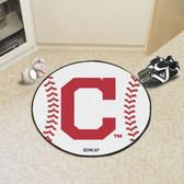 """Cleveland Indians """"Block-C"""" Baseball Mat 27"""" diameter"""