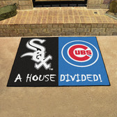 "Chicago White Sox - Chicago Cubs House Divided Rugs 33.75""x42.5"""