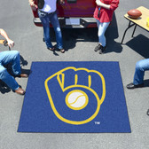 "Milwaukee Brewers ""Ball in Glove"" Tailgater Rug 5'x6'"