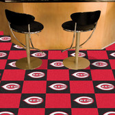 "Cincinnati Reds Carpet Tiles 18""x18"" tiles"