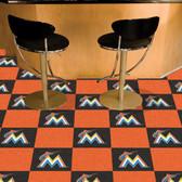 "Miami Marlins Carpet Tiles 18""x18"" tiles"