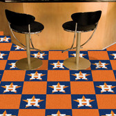 "Houston Astros Carpet Tiles 18""x18"" tiles"