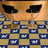 """Milwaukee Brewers Carpet Tiles 18""""x18"""" tiles"""