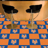 "New York Mets Carpet Tiles 18""x18"" tiles"