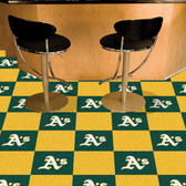 "Oakland Athletics Carpet Tiles 18""x18"" tiles"