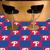 "Philadelphia Phillies Carpet Tiles 18""x18"" tiles"