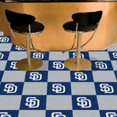 "San Diego Padres Carpet Tiles 18""x18"" tiles"