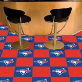 "Toronto Blue Jays Carpet Tiles 18""x18"" tiles"