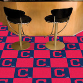 "Cleveland Indians ""Block-C"" Carpet Tiles 18""x18"" tiles"