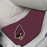 "Arizona Cardinals 2-piece Carpeted Car Mats 17""x27"""