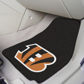 "Cincinnati Bengals 2-piece Carpeted Car Mats 17""x27"""