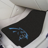"Carolina Panthers 2-piece Carpeted Car Mats 17""x27"""