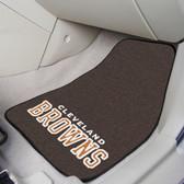 """Cleveland Browns 2-piece Carpeted Car Mats 17""""x27"""""""