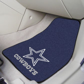 "Dallas Cowboys 2-piece Carpeted Car Mats 17""x27"""