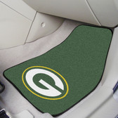 "Green Bay Packers 2-piece Carpeted Car Mats 17""x27"""