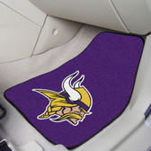 "Minnesota Vikings 2-piece Carpeted Car Mats 17""x27"""