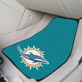 "Miami Dolphins 2-piece Carpeted Car Mats 17""x27"""