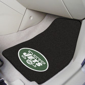 "New York Jets 2-piece Carpeted Car Mats 17""x27"""