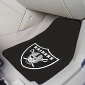 "Oakland Raiders 2-piece Carpeted Car Mats 17""x27"""