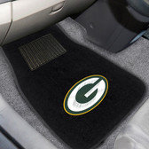 "Green Bay Packers 2-piece Embroidered Car Mats 18""x27"""