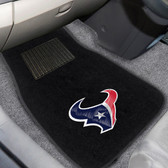 "Houston Texans 2-piece Embroidered Car Mats 18""x27"""