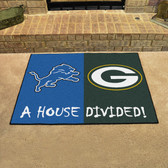 "Detroit Lions - Green Bay Packers House Divided Rugs 33.75""x42.5"""