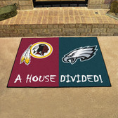 "Washington Redskins - Philadelphia Eagles House Divided Rugs 33.75""x42.5"""