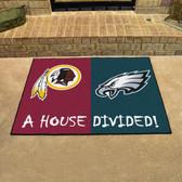 "Washington Redskins - Philadelphia Eagles House Divided Rugs 33.75""x42.5"""