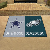 "Dallas Cowboys - Philadelphia Eagles House Divided Rugs 33.75""x42.5"""