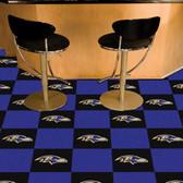 "Baltimore Ravens Carpet Tiles 18""x18"" tiles"
