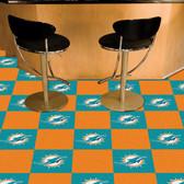 """Miami Dolphins Carpet Tiles 18""""x18"""" tiles"""