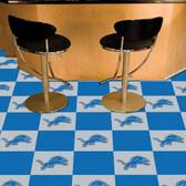 """Detroit Lions Carpet Tiles 18""""x18"""" tiles"""