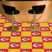 "Kansas City Chiefs Carpet Tiles 18""x18"" tiles"