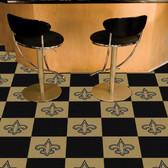 """New Orleans Saints Carpet Tiles 18""""x18"""" tiles"""
