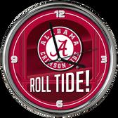 Alabama Crimson Tide Go Team! Chrome Clock