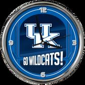 Kentucky Wildcats Go Team! Chrome Clock