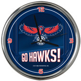 Atlanta Hawks Go Team! Chrome Clock