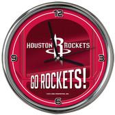 Houston Rockets Go Team! Chrome Clock
