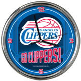 Los Angeles Clippers Go Team! Chrome Clock