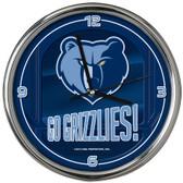 Memphis Grizzlies Go Team! Chrome Clock